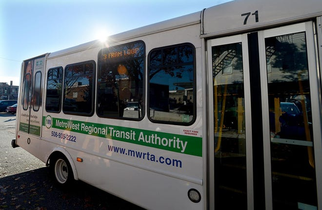 The MetroWest Regional Transity Authority Advisory Board will discuss reinstituting fare collection on its buses. Fare collection has been suspended during the pandemic. [Daily News and Wicked Local File Photo/Ken McGagh]