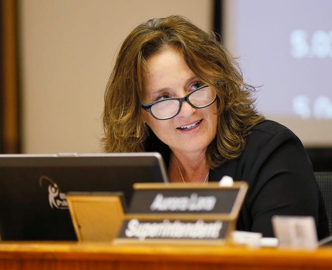 Paula Lewis presides over her first  meeting as chairperson of the Oklahoma City School Board at 900 N Klein in Oklahoma City on April 17, 2017.