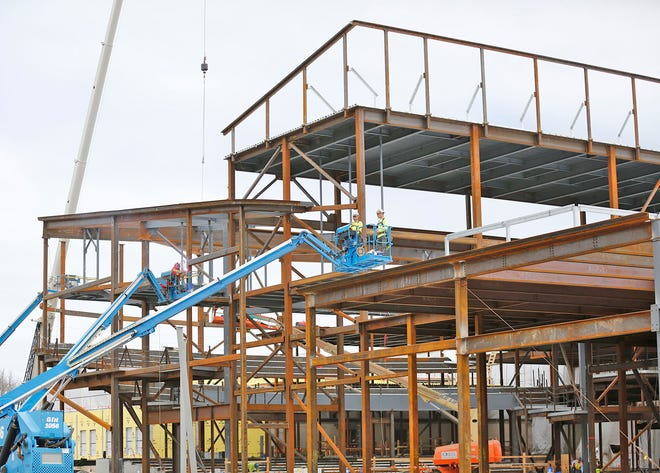 The renovation of the Abigail Adams Middle School into a primary school is being done in conjunction with the construction of a new Chapman Middle School. [Patriot Ledger File Photo]