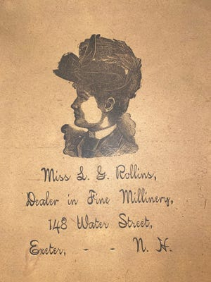 Image taken from a hatbox found in the Fogg Rollins House. One of the few respectable occupations for single women in the nineteenth and early twentieth centuries was that of milliner.