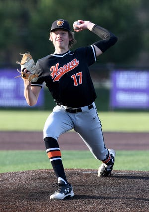 Hoover's Tanner Ware delivers a pitch against Jackson on Tuesday.
