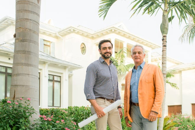 Richard Perrone, founder and CEO of Perrone Construction, right, and  Ricky Perrone, president.