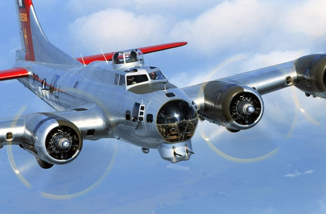 """The """"Aluminum Overcast,"""" a refurbished B-17 Flying Fortress, will offer rides from Punta Gorda Airport Friday through Sunday."""
