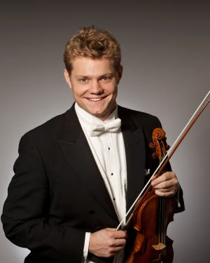 """David Coucheron, concertmaster for the Atlanta Symphony Orchestra, is the guest soloist for the Sarasota Orchestra's chamber program """"Mozart and Mendelssohn."""""""