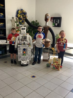 Robot Winners: Korbyn Childers - 3rd Place, Everett Quirk - 1st Place, Hadlee Pinkston - 2nd Place.