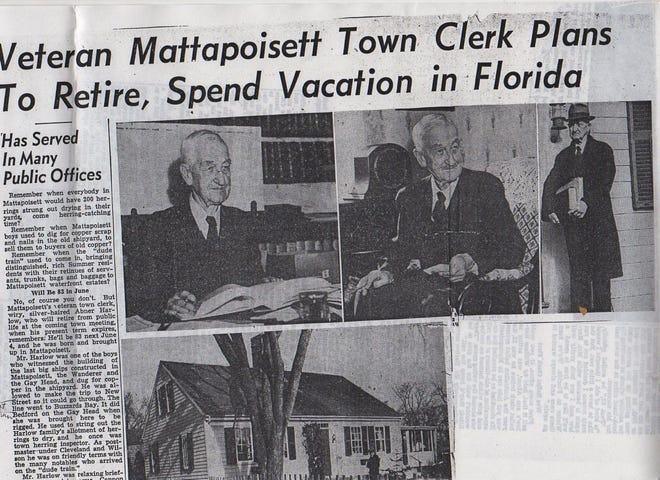 Abner Harlow retired at the age of 83 after serving as the Mattapoisett Town Clerk for decades.