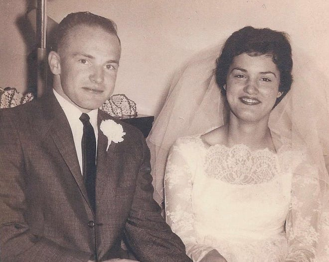 Jim and Edna Olienyk on April 15, 1961.