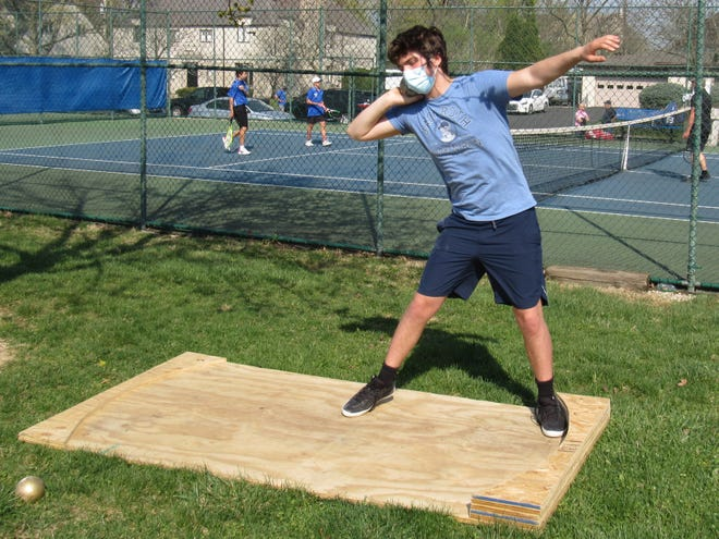 Junior Evan Scott will compete in the throwing events for the Bexley boys track and field team, which will be host to the Russ Owen-Bexley Relays on April 16.