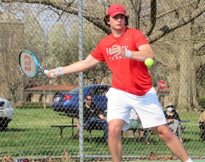 Senior Nick Chovan will play second singles for the Hartley boys tennis team, which returns to action April 20 as host to St. Charles.
