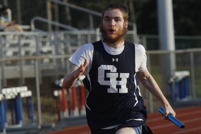 Grandview Heights senior P.J. Tingler runs the final leg of the 400-meter relay during a meet at Thomas Worthington on April 6. Tingler is among the competitors who also contributed for the boys team in 2019.