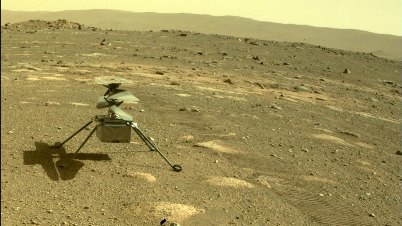 NASA helicopter Ingenuity attempting first flight on Mars