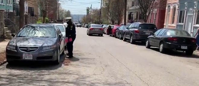 The Cincinnati Police Department is leaving pink report cards on cars to let owners know how they might be vulnerable to thieves.
