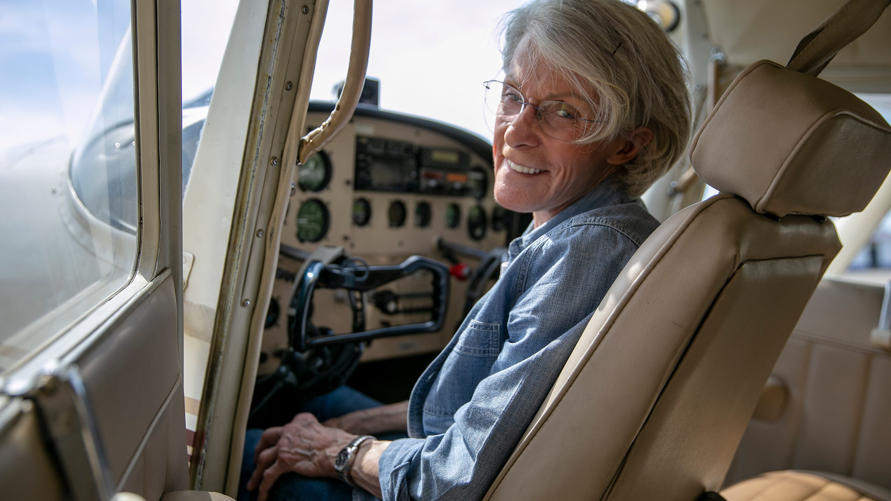 Martha Lunken, our region's first lady of flying, is grounded. 'It's like being disemboweled'