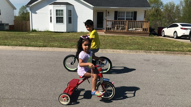 Vanessa Almonte and her children enjoy a sunny day in Clarksville. As a child, Almonte immigrated to the United States with her family, growing up in Brownsville, Texas, before settling in Tennessee.