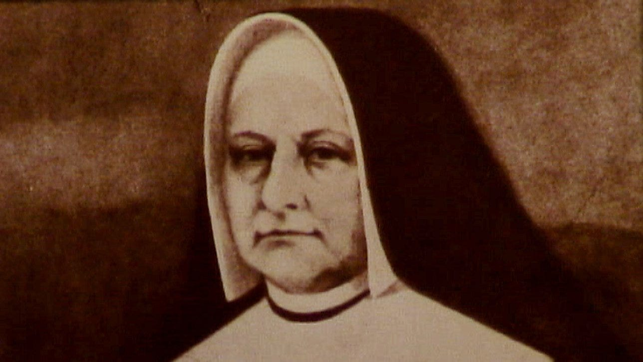 This is a historic photo of Mother Theresa Maxis Duchemin, the founder of the Immaculate Heart of Mary Convent in Monroe, Mich., in the 1800s. Duchemin, a biracial woman, also co-founded the first convent for African American women, the Oblate Sisters of Providence, in Baltimore, Md.