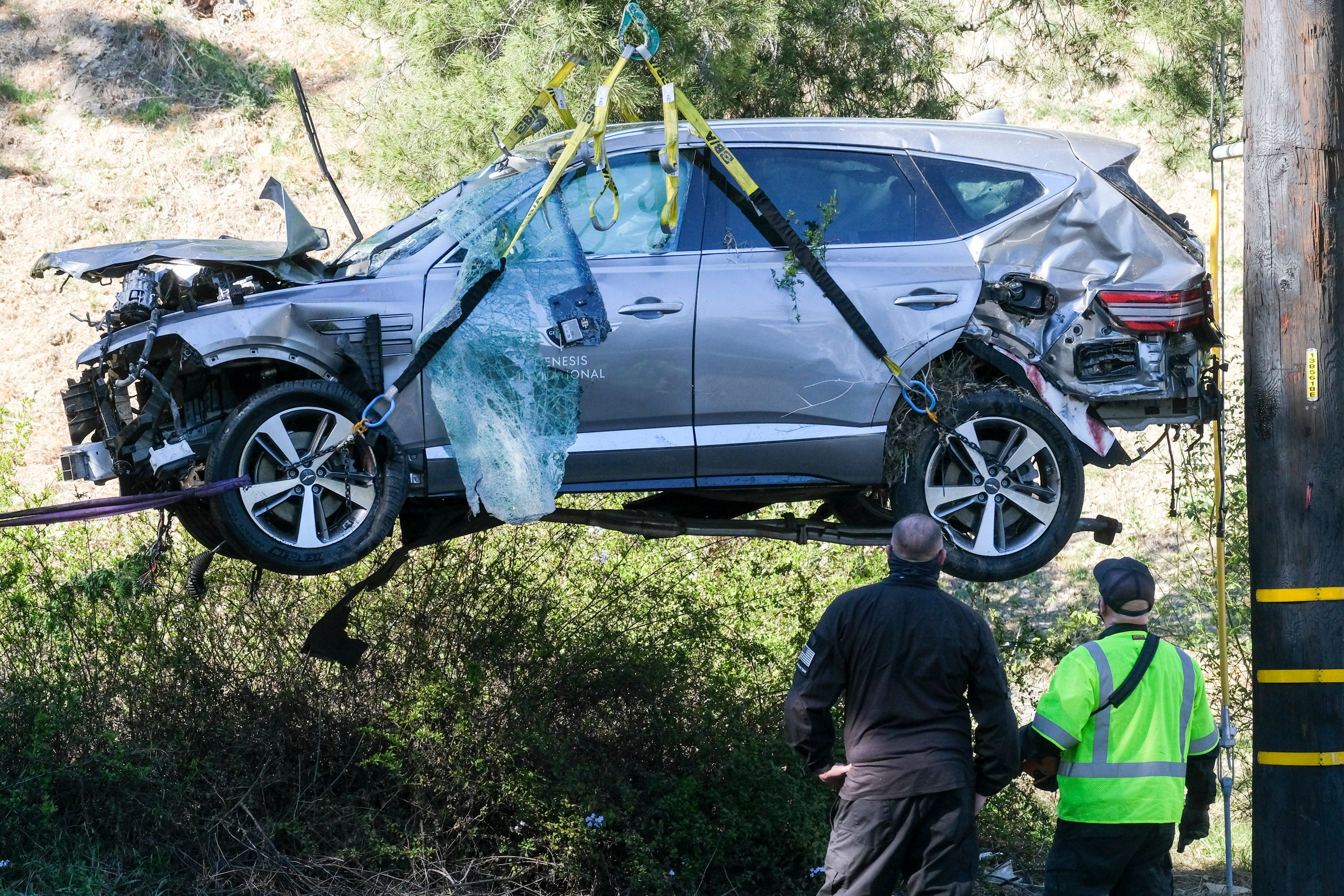 Woods was driving almost 90 mph when he crashed SUV near LA 1