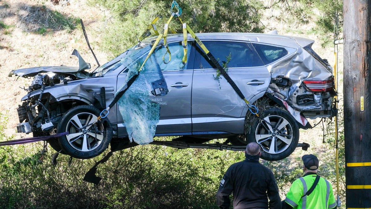 Woods was driving almost 90 mph when he crashed SUV near LA 2