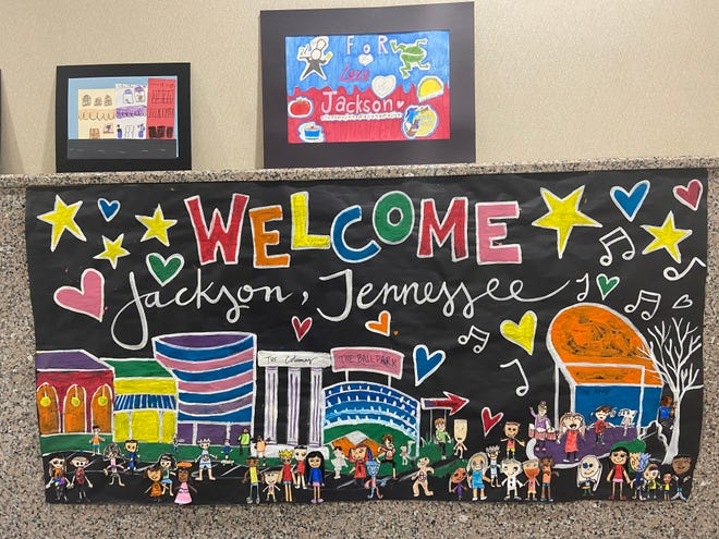 Students from Kindergarten to eighth grade in Jackson and Madison County were invited to submit original works of art to show what they love about living in Jackson.
