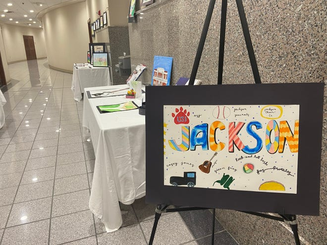 """The """"For the Love of Jackson"""" student art exhibit is available for viewing on the third floor at Jackson City Hall."""