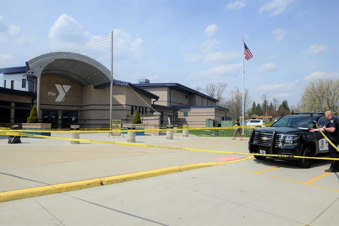 A man was stabbed outside the Mansfield Area Y on Wednesday afternoon.