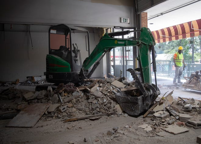 Construction continues for the expansion of Germantown Hardware on Tuesday, April 6, 2021. The hardware store expansion will feature a new retail area and outdoor garden center .