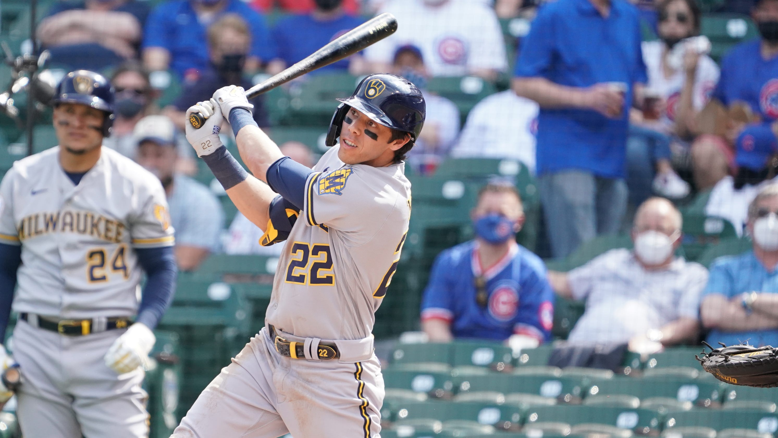 Hitting coach Andy Haines knows better than anyone how frustrating it was to Christian Yelich to go on IL