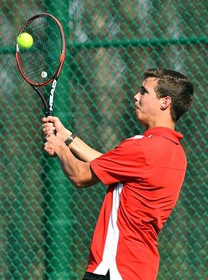 Susquehannock's Andy Snyder is the York-Adams League boys' tennis Class 2-A singles champion.