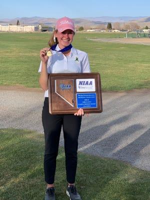 Bishop Manogue junior Audrey Brust won the girls golf Regional on Tuesday.