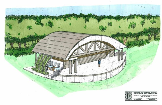 The Thomas R. Schidel Education and Event pavilion for the Environmental Learning Center in Indian River County breaks ground April 14, 2021.