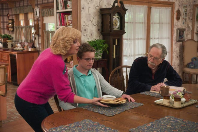 "As overprotective mom Beverly (Wendi McLendon-Covey) spoils her son Adam (Sean Giambrone), his grandfather Pops (George Segal) waits to offer some hard but loving truths in Wednesday's episode of ABC's ""The Goldbergs."" It was the final appearance for Segal, who died in March."