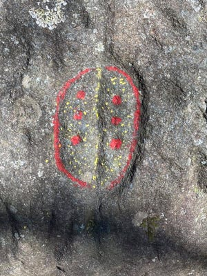 Native American rock carvings vandalized in Track Rock Gap in Georgia