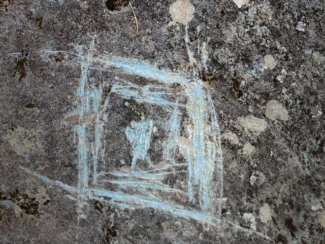 Rock carvings, or petroglyphs, created by Creek and Cherokee people more than 1,000 years ago can be found in Georgia's Chattahoochee-Oconee National Forests. The U.S. Forest Service announced some of the carvings had been vandalized in a statement Monday.