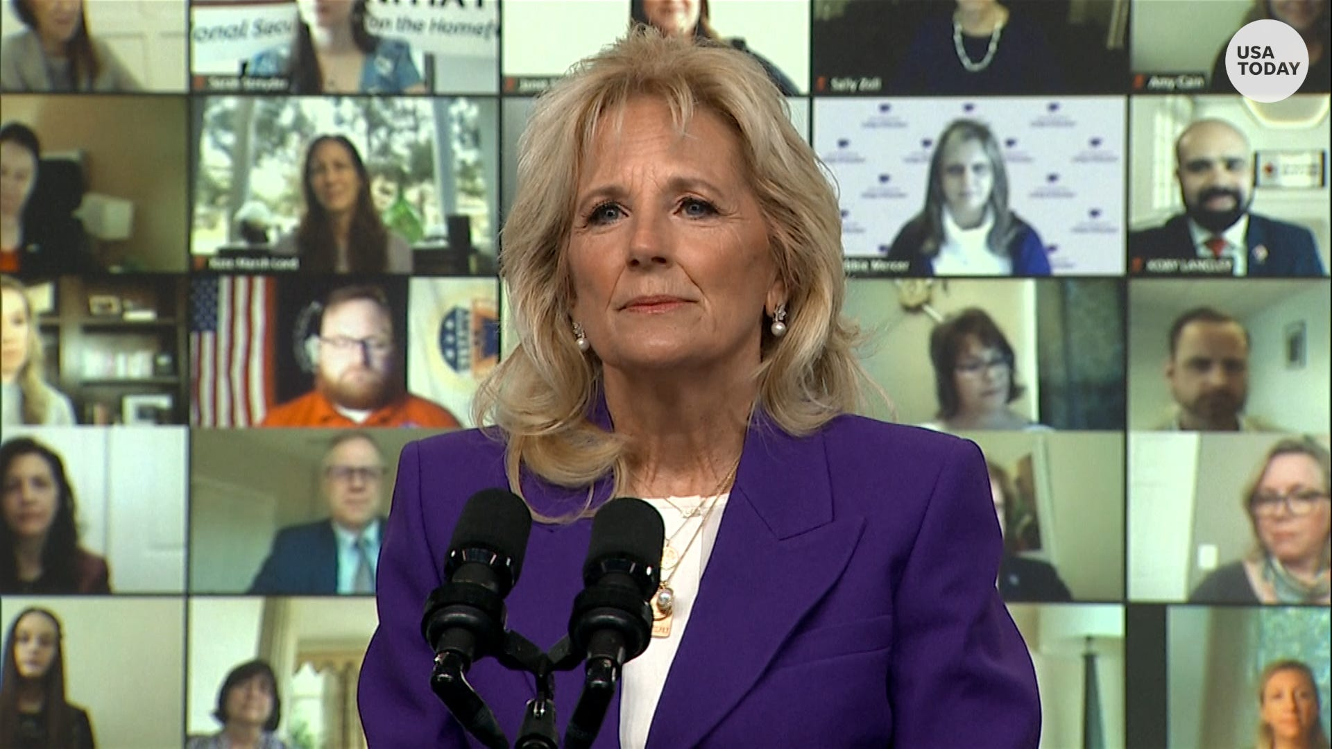 'We have to help you carry this weight': Jill Biden announces plans to aid military families