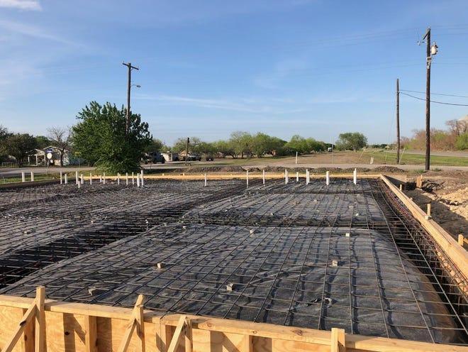 Foundation for a 3600 square foot senior center in Orange Grove.