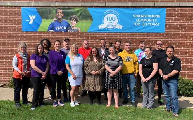 Staff and advisory board members at the Alliance Family YMCA are, front row from left, Libby Patterson, Robin Geiselman, Michelle Zumbar, Debbie Kranning, Brittany Acuff, Andrea Lee, Dominic Bertolini, Morgan Brown and Nick D'Agostino. Back row from left are Cindy King, Kerry Cochran, Jack Wheeler, Rob Gress, Ben Siefke, Gerald Kessler and Jerry Whitacre.