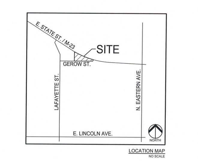 Attitude Wellness LLC Ñwhose parent company is Lume Cannabis CompanyÑ was requesting approval to locate its business at 1116 E. State Street. This is a map of where the proposed building will be located.