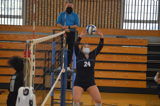 Burlington High School graduate Gretchen Durbala was a second team all-conference setter for Westminster College this spring.