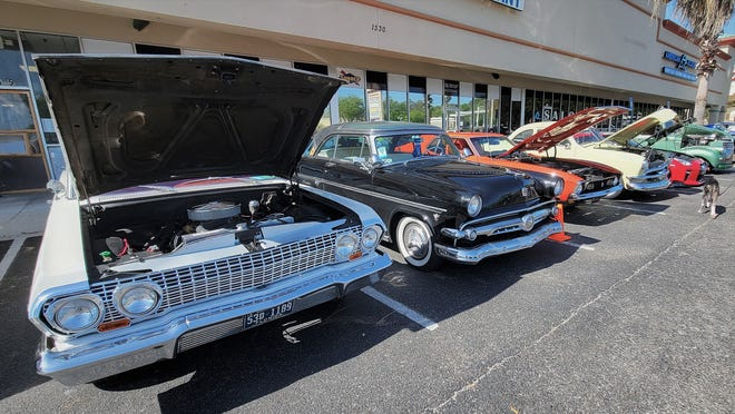 The lineup at a recent Clay County Cruzers cruise-in.