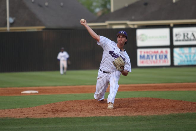 Dutchtown pitcher Nathan Monceaux held East Ascension to just three hits and two runs in five innings of work.