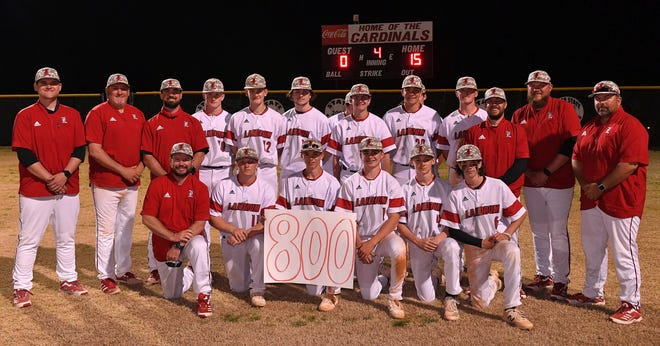The Landrum Cardinals beat Blacksburg 15-0 on Wednesday evening for the program's 800th win.