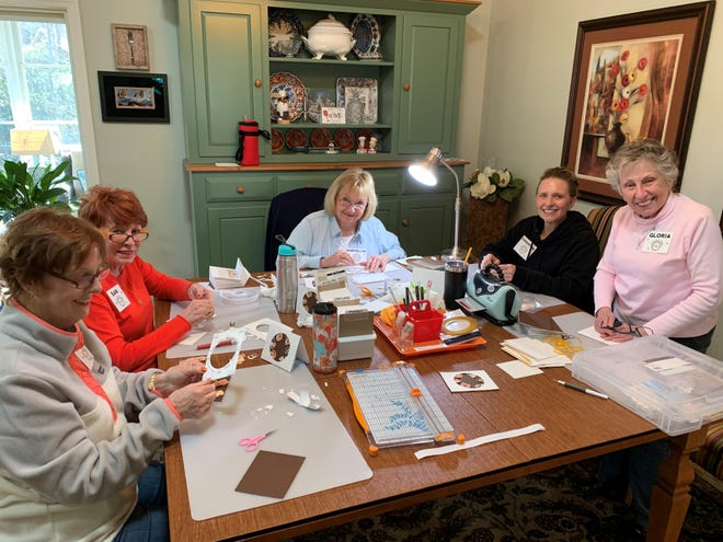Volunteers with Cards for HVL Causes gather in 2019 for a pre-COVID workday.