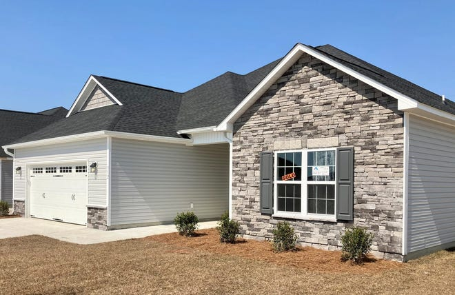 A recently constructed and purchased home in the Stateside subdivision off Gum Branch Road north of Jacksonville.
