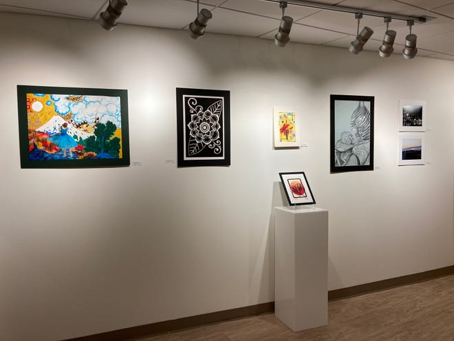 Since last year's Student Art Exhibit was canceled due to the COVID shut-downs, the work now in the Regier Art Gallery atBethelCollegeincludes current and former students and two graduates.