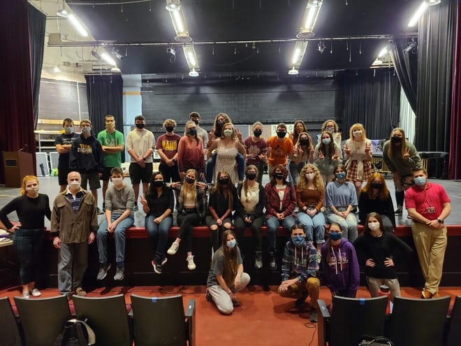 """Pictured are the cast and crew of """"The 25th Annual Putnam County Spelling Bee"""" which is being presented as Stow-Munroe Falls High School's All-School Musical April 16-18."""