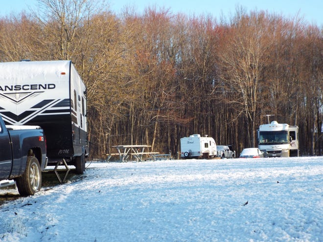 Was Mother Nature playing an April Fools' joke on campers at Silver Springs Campground in Stow?