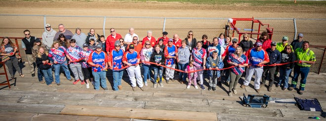 Moberly Area Chamber of Commerce held a ribbon cutting ceremony the afternoon of April 2 to commemorate opening night of the 2021 dirt track racing season at Moberly's Randolph County Raceway. The Jim and Tammy Lieurance family from Hannibal operating under the business name of JT Racing LLC are the facility's new promoters and managers of the establishment for at least the next two years.