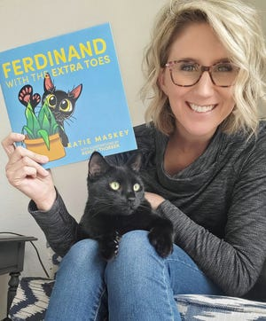 "Katie Maskey of Lambertville, author of ""Ferdinand With the Extra Toes."""