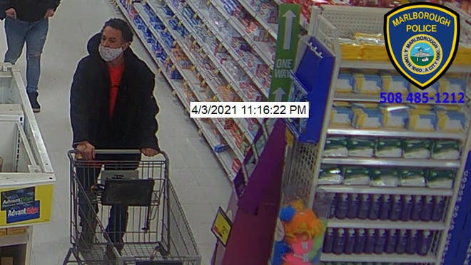 This is one of three suspects Marlborough police seek in relation to the theft of about $1,000 worth of shampoo from Price Chopper last weekend.