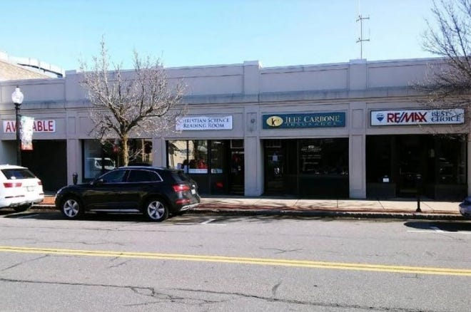This section of downtown Natick, including 7, 9, 11 and 17 Washington St., will be demolished to make way for a five-story building that will include ground-level retail and apartment units above.