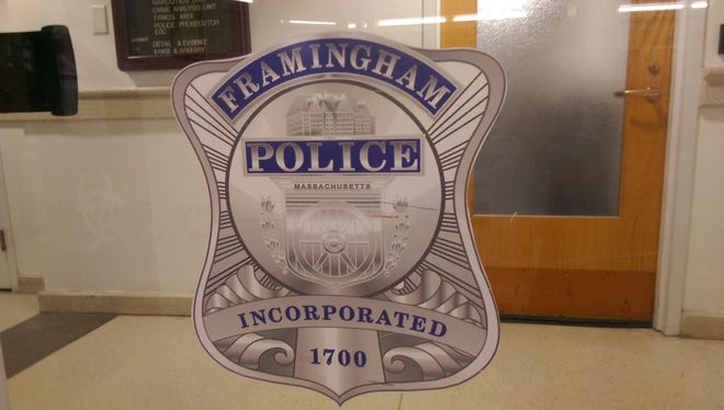Police in Framingham are searching for a motorist who struck a man at the corner of Edgell Road and Auburn Street.
